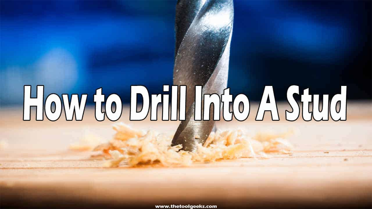 If you want to hang something into a stud wall then you need to drill it, knowing how to drill into a stud is very imporant. Studs are very easy to break so you will have to be extra careful with these types of walls.