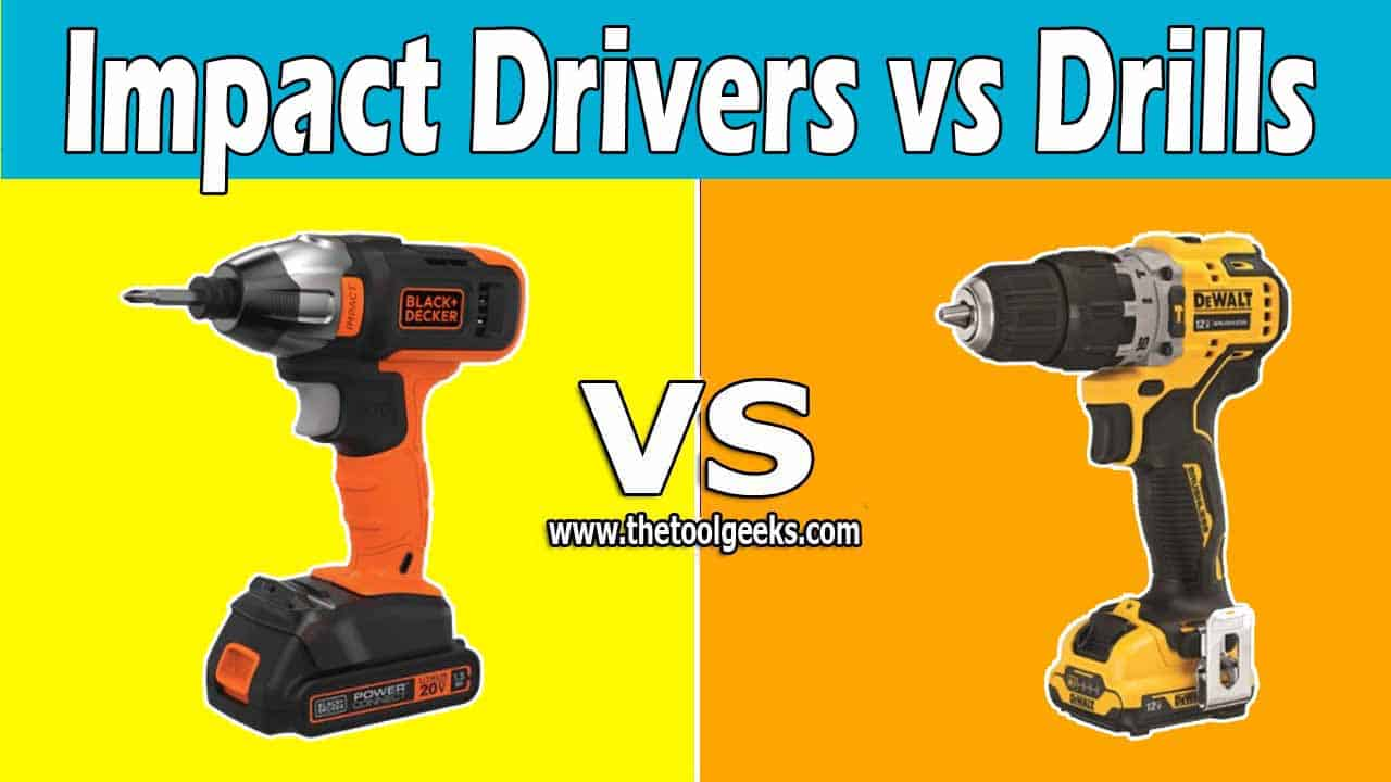 The impact driver and the drill are two similar tools, they look the same, and they almost do the same job. But, there are a lot of differences between impact drivers vs drills. The main difference is the size, the drills are heavier and larger, while the impact drivers are lighter and come with a compact size.