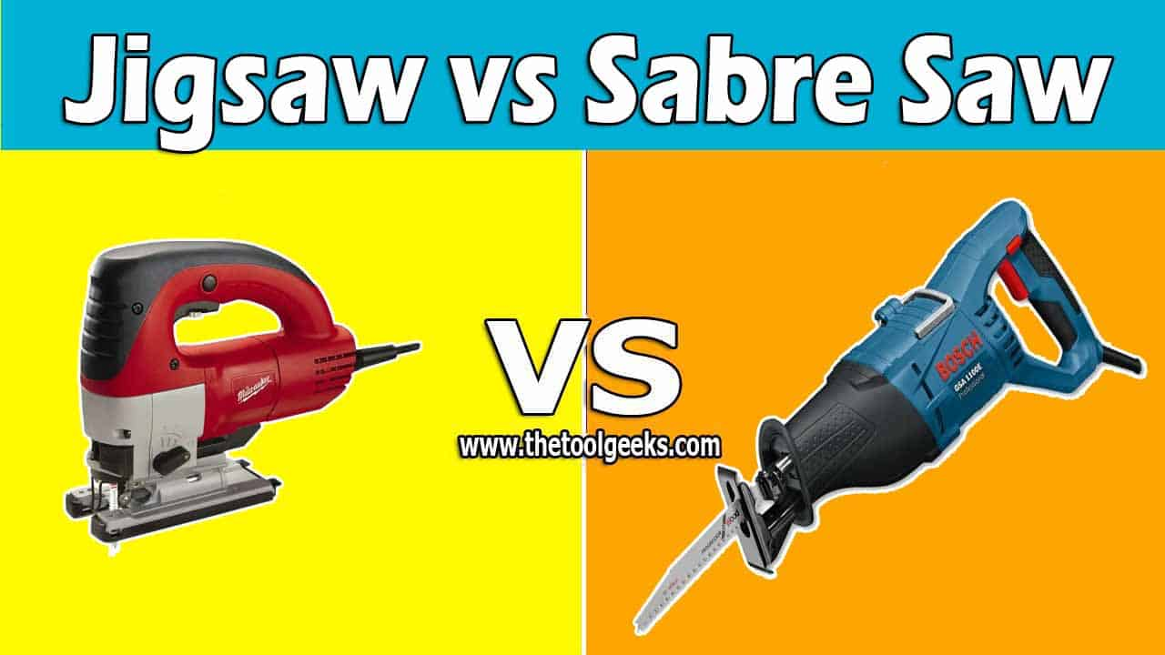 A jigsaw and a sabre saw are so similar that some people think they are the same tool. But, there are a lot of differences when it comes to jigsaw vs sabre saw. The main difference is the purpose, the sabre saw is a more powerful saw so it's used more for rough surfaces, the jigsaw is not as powerful, and it's mostly used for small and detailing tasks.
