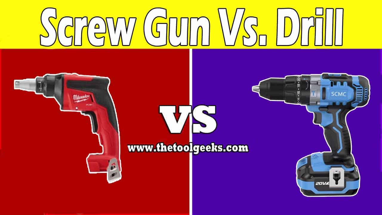 These two power tools look the same, no wonder a lot of people don't know the differences. The main difference between a screw gun vs drill is the purpose. The drills can be used for a lot of different projects, while the screw gun is only used to drive in screws