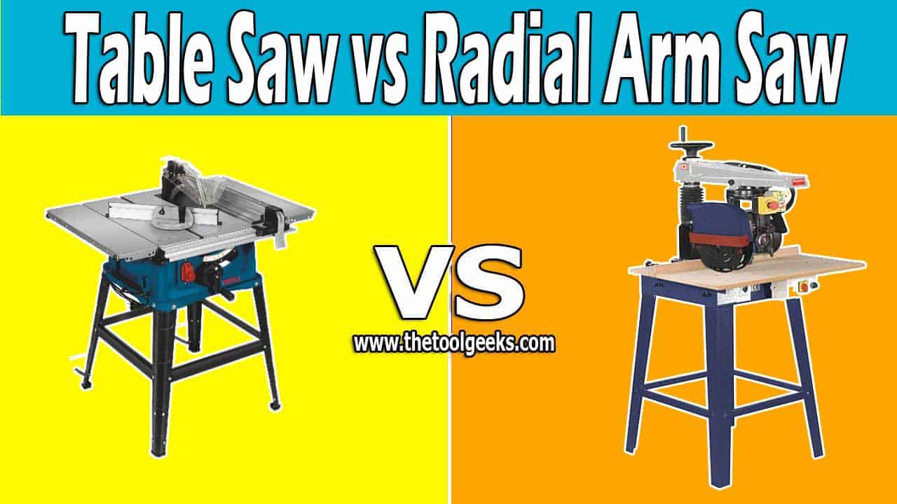 When it comes to power saws, there are a lot of different types. So, if you don't know the differences between the table saw vs radial arm saw then it's okay. These two tools can look the same at first look, but they are very different. Radial arm saws come with a blade that you can move around, while the table saw come with a static blade located at the center of the table.