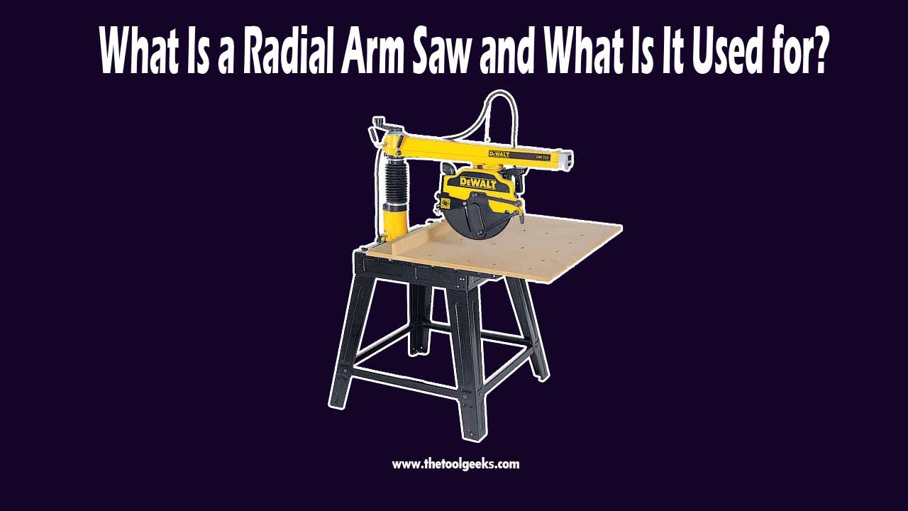 The radial arm saw was a very popular tool, nowadays not a lot of people use it, but it's still a very useful tool if you know how to use it. It comes with a blade that is located at the top of the tool, you can move the blade around and this makes this tool a versatile one. But, it's not a safe tool, you should only use it if you are a professional.