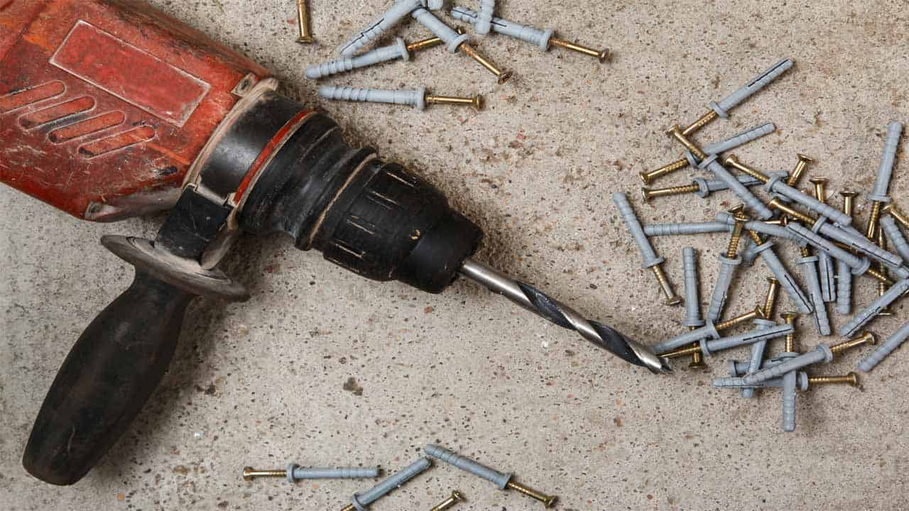 A drill is a power tool that is mostly used to make holes into materials. It comes with a drill bit that rotates at a high-speed to create holes.