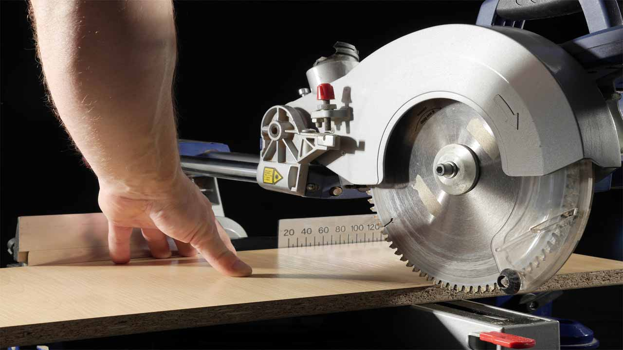 The non-sliding miter saw doesn't allow you to grab the blade and move it towards you, you can only move it down. The non-sliding miter saw is safer than the sliding miter saw. Also, it's easier to use, and costs less.