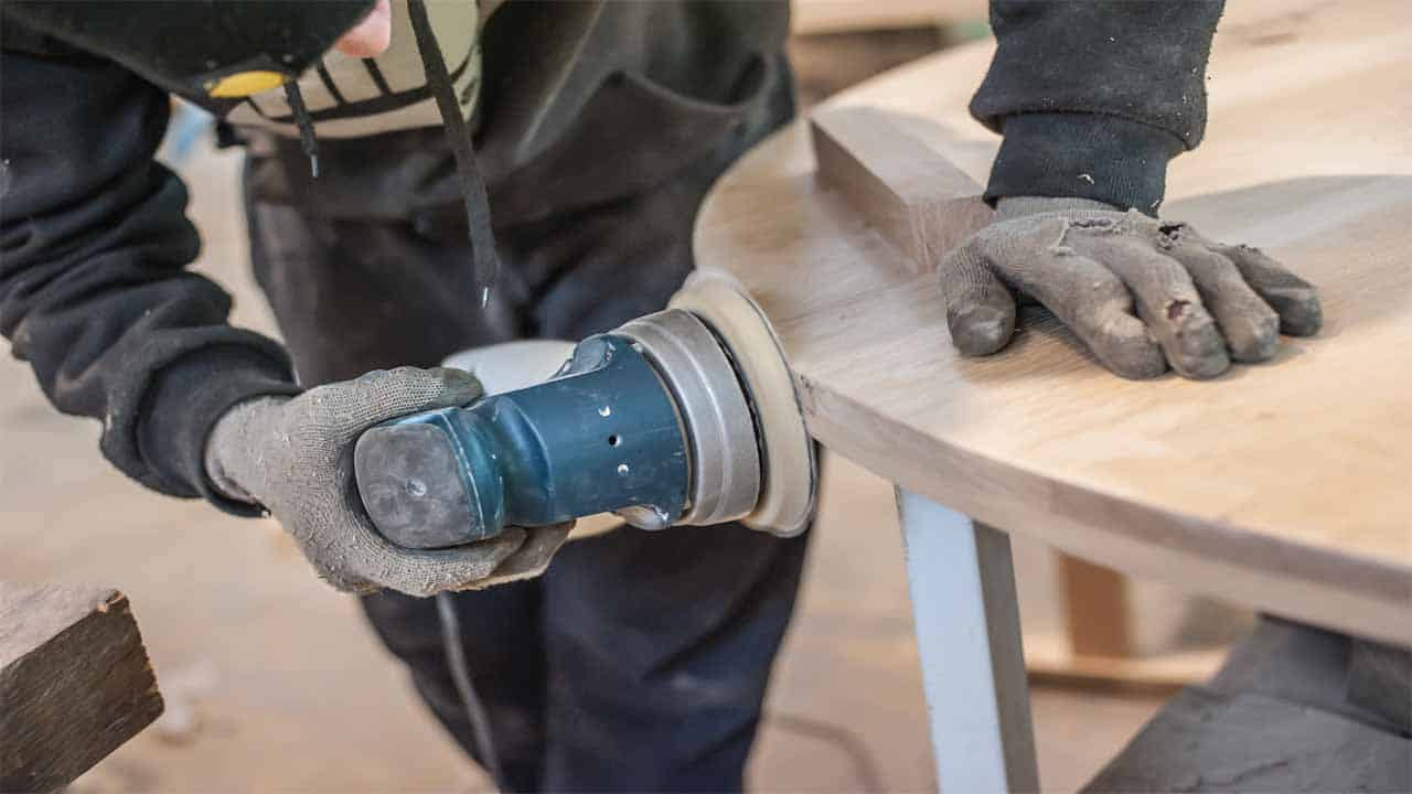 A palm sander is mostly used for finishing purposes, if you want to give the surface a nice touch before painting it, then you should use a palm sander. The palm sander isn't very powerful so you shouldn't use it for removal purposes.