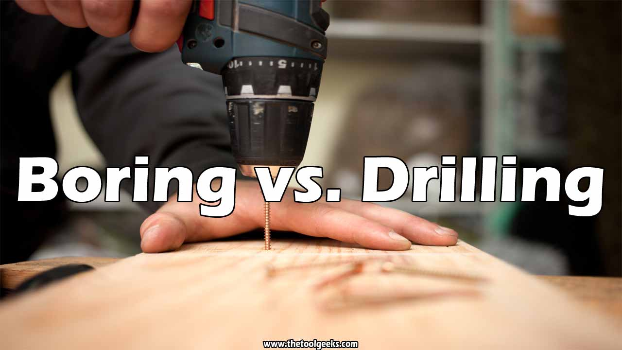The main difference between boring vs drilling is the purpose. The boring process purpose is to make an existing hole larger, while the drilling process purpose is to make a new hole.