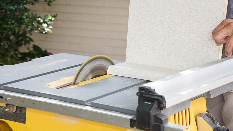 You can use the table saw for cross cuts.