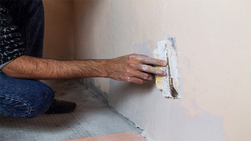 You need to repair the drywall before sanding. You have to fill up gaps so the final surface can be as smooth as possible.